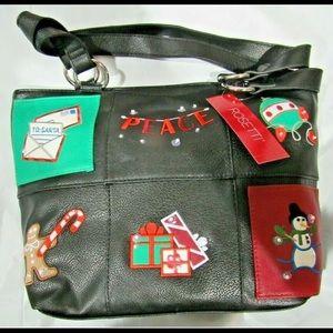 Rosetti Black PEASE Christmas purse